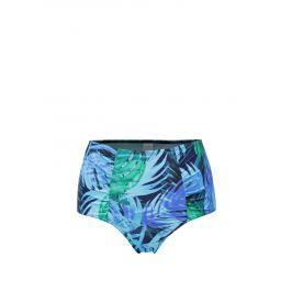 Tyrkysový vzorovaný spodní díl plavek s vysokým pasem M&Co