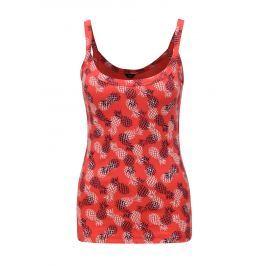 Červené dámské tílko s potiskem ananasů M&Co