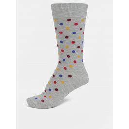 Šedé unisex puntíkované ponožky Happy Socks Dot