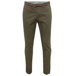 Tmavě zelené chino kalhoty Jack & Jones Cody