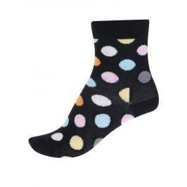 Černé dětské puntíkované ponožky Happy Socks Big Dot