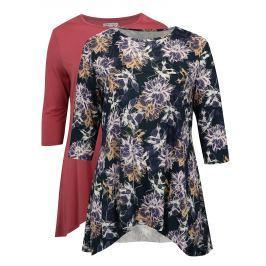 Sada dvou triček v modré a růžové barvě simply be.