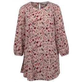Růžové květované šaty s dlouhým rukávem simply be.