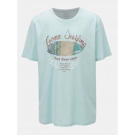Světle zelené tričko s potiskem Jack & Jones Pleo