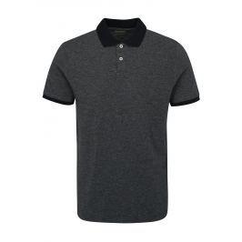Tmavě modré polo tričko Selected Homme Slub