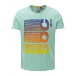 Světle zelené pánské slim fit tričko s potiskem s.Oliver