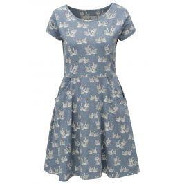 Světle modré šaty s motivem labutí Brakeburn