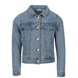 Modrá holčičí džínová bunda Name it Tea Dětské bundy a kabáty