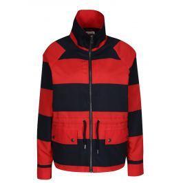 Červeno-modrá pruhovaná bunda Noisy May Ariel Dámské bundy a kabáty