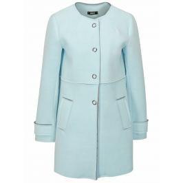 Světle modrý kabát v semišové úpravě ZOOT Dámské bundy a kabáty