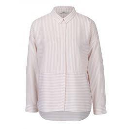 Růžovo-růžová pruhovaná košile s dlouhým rukávem ONLY Elenas  Dámské halenky a košile