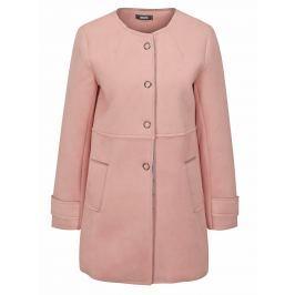 Růžový kabát v semišové úpravě ZOOT