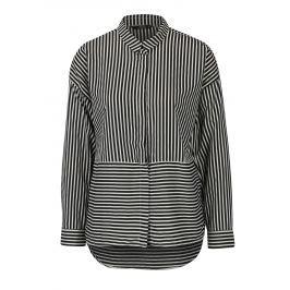 Krémovo-černá pruhovaná košile s dlouhým rukávem ONLY Elena Dámské halenky a košile