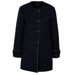 Tmavě modrý kabát v semišové úpravě ZOOT Dámské bundy a kabáty