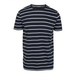 Tmavě modré pruhované tričko Selected Homme Max Pánská trička