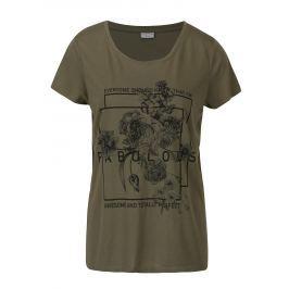 Zelené volné tričko s potiskem Jacqueline de Yong New Sky Dámská trička