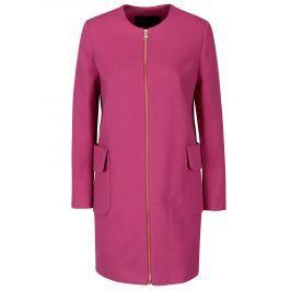 Růžový dámský kabát Pietro Filipi  Dámské bundy a kabáty
