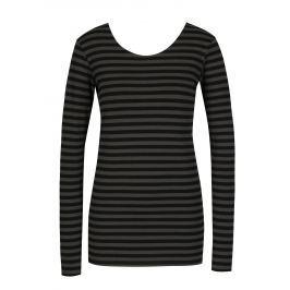 Šedo-černé dámské pruhované tričko s dlouhým rukávem Garcia Jeans Dámská trička