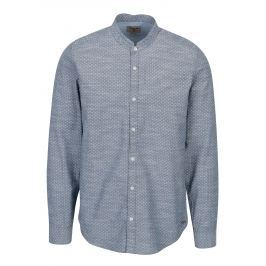 Modrá pánská vzorovaná košile Garcia Jeans Heren Pánské košile