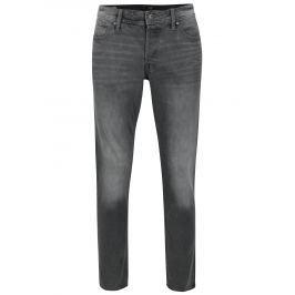 Šedé slim fit džíny s vyšisovaným efektem Jack & Jones Tim Pánské kalhoty