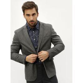 Šedé žíhané oblekové sako Selected Homme Zero-Merce