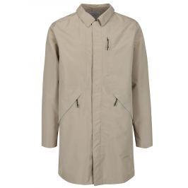 Béžový funkční nepromokavý kabát Selected Homme Take Tech Pánské bundy a kabáty