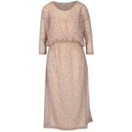 Starorůžové šaty s flitry 2v1 VILA Kyle Dámské šaty