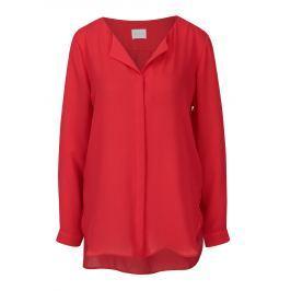 Červená halenka s dlouhým rukávem VILA Lucy  Dámské halenky a košile