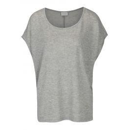 Šedý volný žíhaný top VILA Sumi Dámská trička