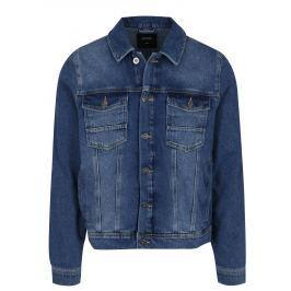 Modrá pánská džínová bunda Burton Menswear London   Pánské bundy a kabáty