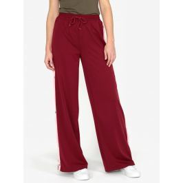Vínové kalhoty s vysokým pasem MISSGUIDED Dámské kalhoty