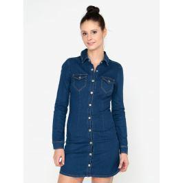 Modré džínové košilové minišaty MISSGUIDED  Dámské šaty
