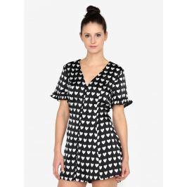 Černé saténové minišaty s krátkým rukávem MISSGUIDED  Dámské šaty