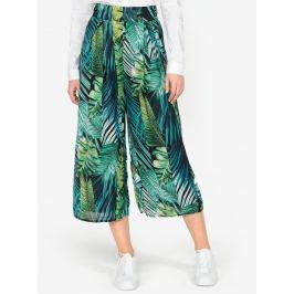Zelené vzorované culottes  s vysokým pasem MISSGUIDED Dámské kalhoty
