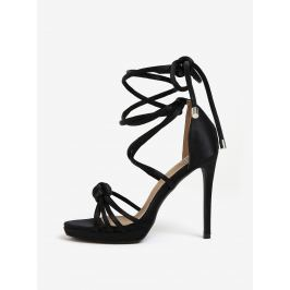 Černé lesklé sandálky MISSGUIDED Dámská obuv