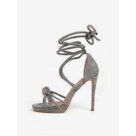 Černo-šedé vzorované sandálky MISSGUIDED  Dámská obuv