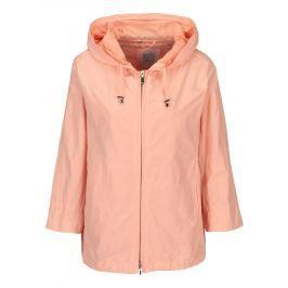 Meruňková dámská lehká bunda s kapucí a 3/4 rukávem Geox  Dámské bundy a kabáty
