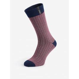 Modro-vínové pánské vzorované ponožky V páru Pánské ponožky