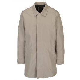 Béžový pánský kabát Geox   Pánské bundy a kabáty