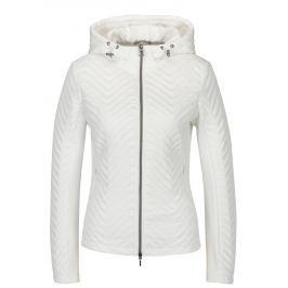 Bílá dámská lehká perforovaná bunda s kapucí Geox   Dámské bundy a kabáty