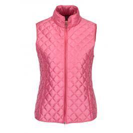 Růžová dámská prošívaná vesta Geox   Dámské vesty