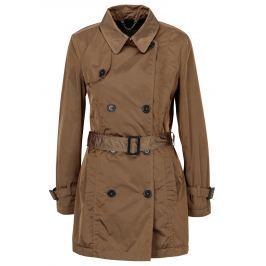 Hnědý dámský lehký trenčkot s páskem Geox   Dámské bundy a kabáty