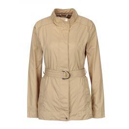 Béžová dámská lehká bunda s páskem Geox   Dámské bundy a kabáty