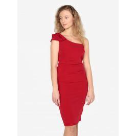Červené asymetrické pouzdrové šaty Oasis Lolita Dámské šaty
