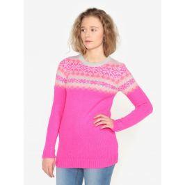 Růžový vzorovaný svetr Oasis Fairisle Dámské svetry, roláky a pulovry