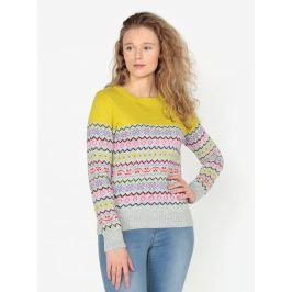 Žluto-šedý vzorovaný svetr Oasis Fairisle Dámské svetry, roláky a pulovry