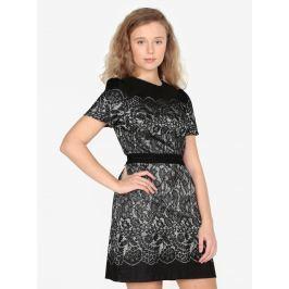 Černé minišaty s motivem krajky Oasis Nottingham Dámské šaty