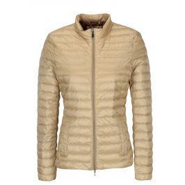 Béžová prošívaná dámská lehká bunda Geox   Dámské bundy a kabáty