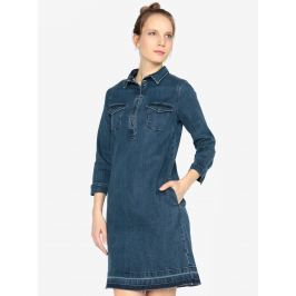 Tmavě modré džínové šaty s 3/4 rukávem s.Oliver Dámské šaty