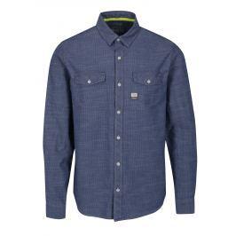 Modrá pánská slim fit košile s jemným vzorem s.Oliver Pánské košile